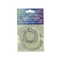 6 pc round metal rim white vellum tags - Pack of 96
