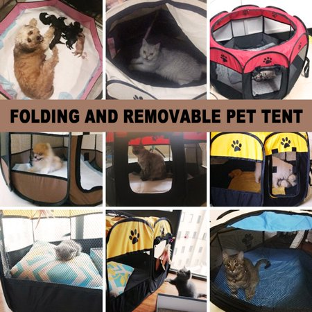 Oxford Cloth Cat Litter Closed Cat Maternity Tent Puppies Folding Tent - image 7 of 8