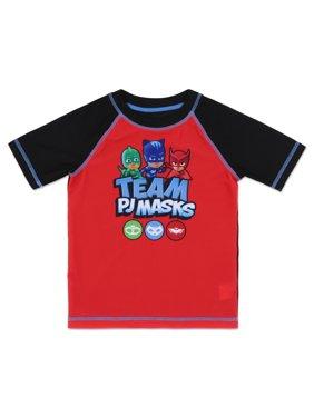 PJ Masks Toddler Boy Rashguard Swim Shirt