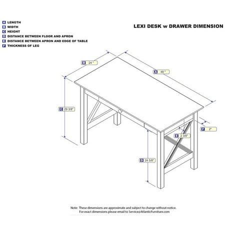 Leo & Lacey Writing Desk in Walnut - image 2 de 4