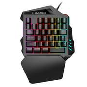 HXSJ V100 35 Key Single Hand Membrane Mini 35 Keys Gaming Keyboard with USB Wired for PUBG LOL CS Gamer