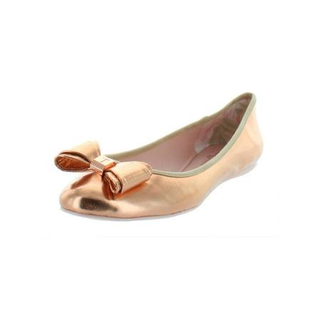 Ted Baker Womens Immet Metallic Faux Leather Ballet Flats Pink 7 Medium (B,M) (Ted Baker Sonnenbrille Fall)