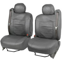 BDK PU Leather Seat Covers for SUV and Pick up Trucks, Built in Seatbelt