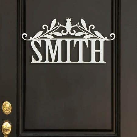 Personalized White Wood Name Door (Overdoor Plaque)