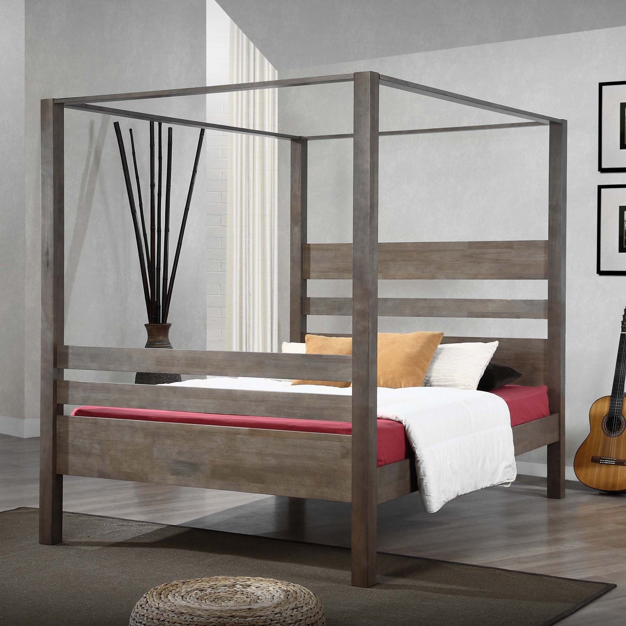 I Love Living Marion Charcoal Grey Queen Canopy Bed : canopy for bed walmart - memphite.com
