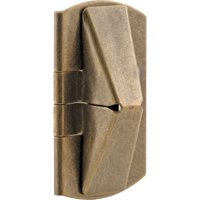 Prime-Line Products U 9929 1 in. x 2 in. Stamped Steel Antique Brass Plated Finish Window Flip Lock (Pack of 2)