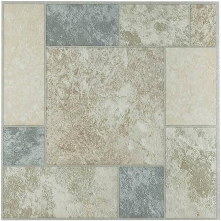 Tivoli Marble Blocks 12 X 12 Self Adhesive Vinyl Floor Tile 45