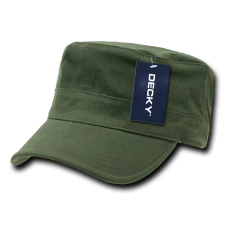 Cotton Military Cap Hat - Decky Flex Cadet  Flat Top Cotton Military Army Cap Caps Hat Hats For Men Women Olive