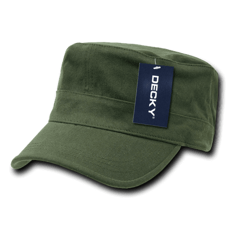 Decky Flex Cadet  Flat Top Cotton Military Army Cap Caps Hat Hats For Men Women - Flat Flex Cap
