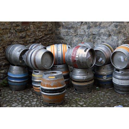Canvas Print Brewery Keg Ale Scruffy Barrel Beverage Beer Pub Stretched Canvas 10 x 14