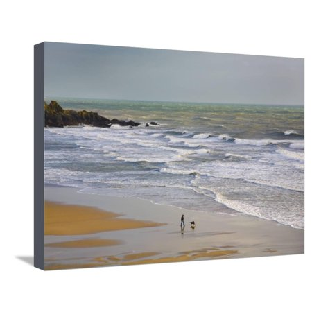Bunmahon Strand, the Copper Coast, County Waterford, Ireland Stretched Canvas Print Wall Art