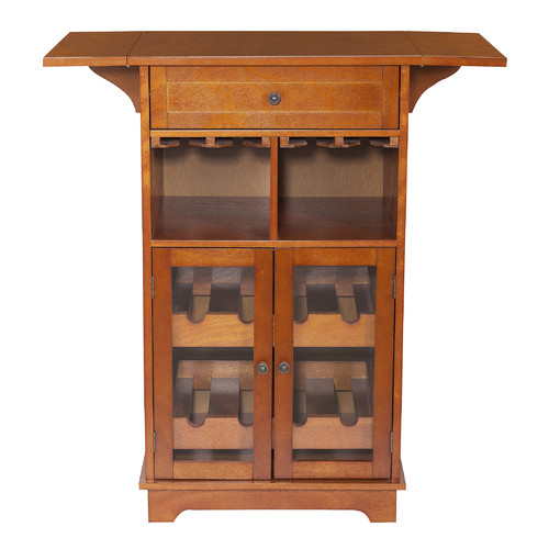 Elegant Home Fashions Peoria 8 Bottle Floor Wine Cabinet by Elite Home Fashions