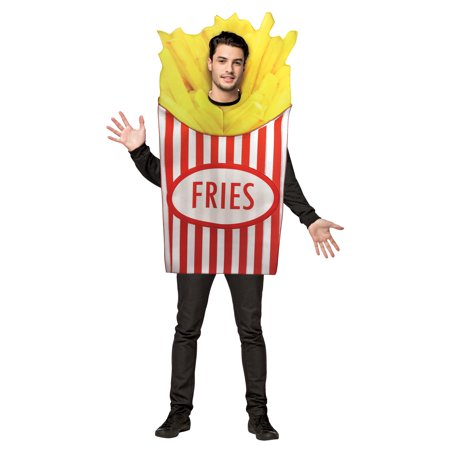 Bichon Frise Halloween Costumes (French Fries Men's Adult Halloween Costume, One Size,)