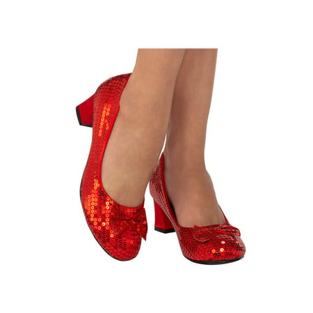 Red Sequin Adult Pumps Halloween Costume Accessory](Halloween Costume Ideas With A Red Cape)