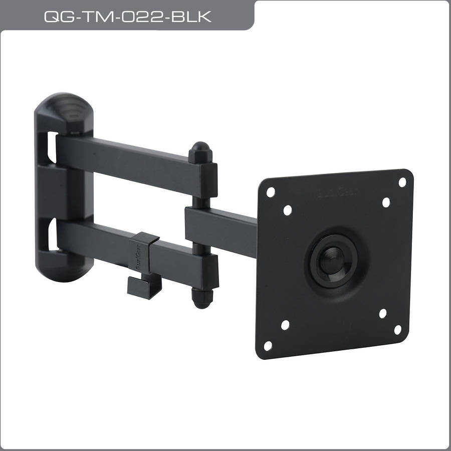 "QualGear QG-TM-022-BLK Universal Ultra-Low-Profile Articulating TV Wall Mount for most 15""-27"" TVs, Black"