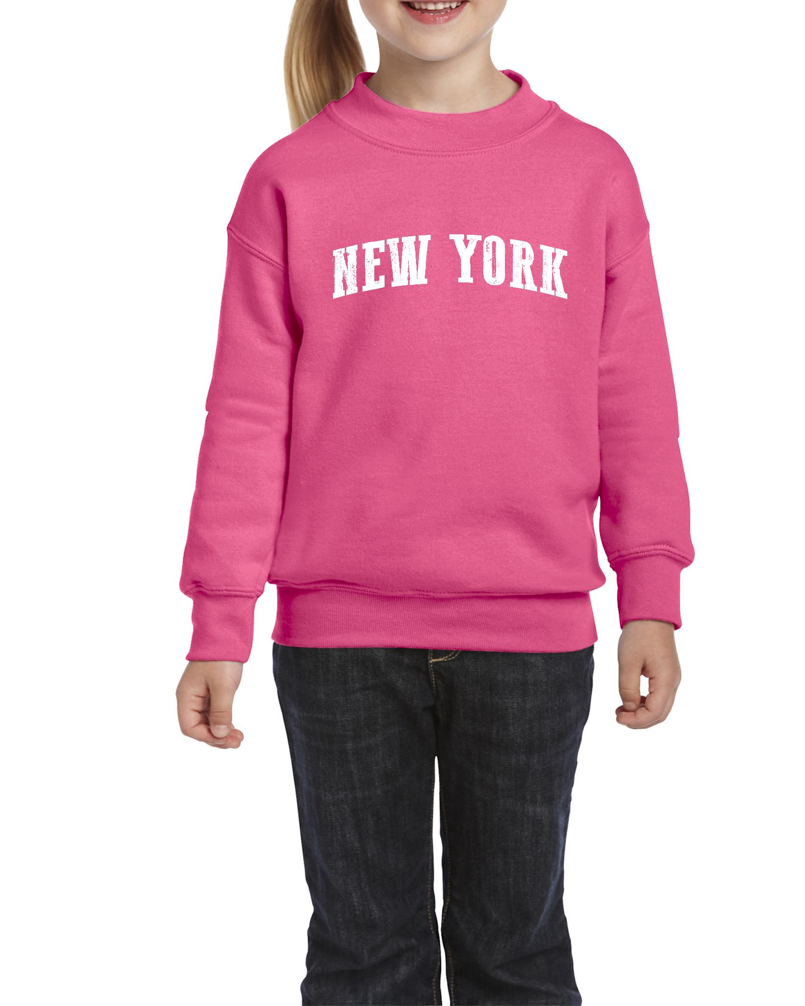 J_H_I NY New York City Hotels Map Tickets Brooklyn Manhattan Times Square USNY  Unisex Youth Kids Crewneck Sweater Clothing