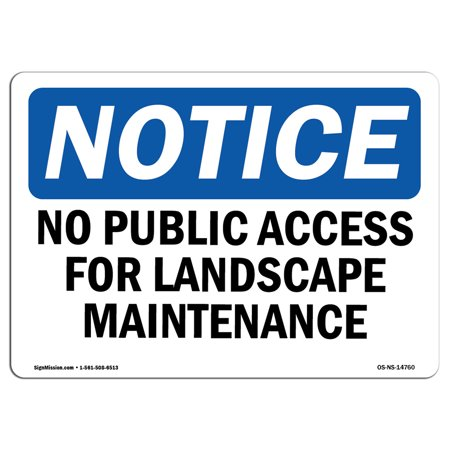 Halloween Public Access (OSHA Notice Sign - No Public Access For Landscape Maintenance Only | Choose from: Aluminum, Rigid Plastic or Vinyl Label Decal | Protect Your Business, Work Site, Warehouse & Shop)