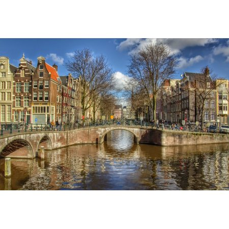LAMINATED POSTER Amsterdam Center Town City Netherlands Poster Print 24 x 36 - Halloween City Amsterdam Ny