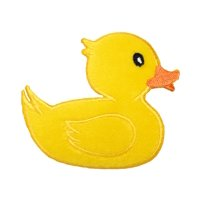 Yellow Duck - Rubber Duckie - Iron on Applique/Embroidered Patch