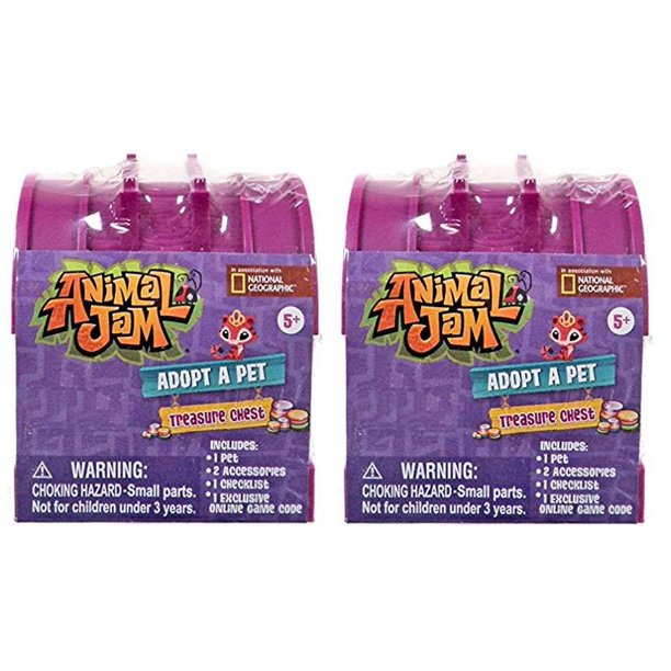 Animal Jam Adopt A Pet 2 Pack Treasure Chest Mystery Pack ...