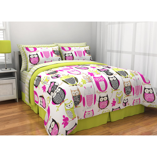 Latitude Sketchy Owl Reversible Bed in a Bag