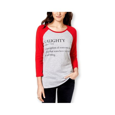 722ce5774 Pretty Rebellious Clothing Womens Naughty Defined Graphic T-Shirt hgyred L  - Juniors - image ...