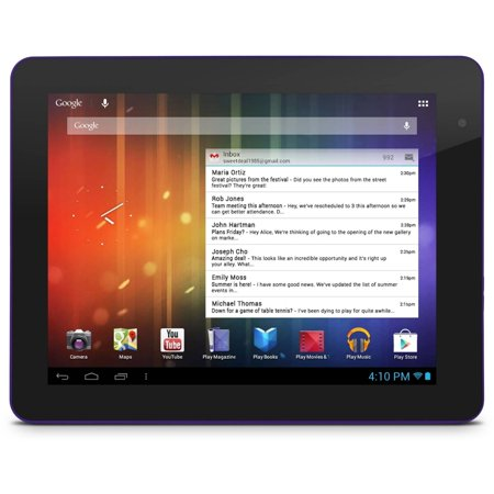 """Ematic EGS108 8"""" Genesis Prime Multi-Touch Tablet, 4GB, Android 4.1, Purple -  0081770701196"""