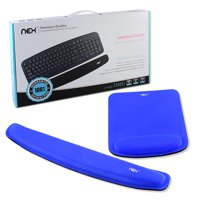 NEX Ergonomic Mouse Pad with Wrist Support, Memory Foam Keyboard Wrist Rest for Computer, Blue (NX-PAD002)