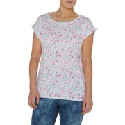 Women's Roll Sleeve Printed T-Shirt