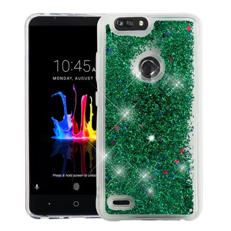 ZTE Blade Zmax case Z Max case by Insten Luxury Quicksand Glitter Liquid Floating Sparkle Bling Fashion Phone Case Cover for ZTE Blade Zmax Blade Z