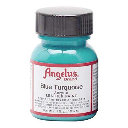Angelus Shoe Polish - Acrylic Leather Paint - 1 oz. Bottle - Blue Turquoise (Suede Dye Walmart)