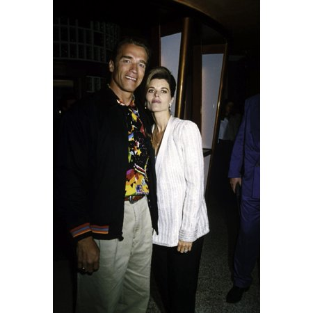 Arnold Schwarzenegger And Maria Shriver At An Event Photo Print