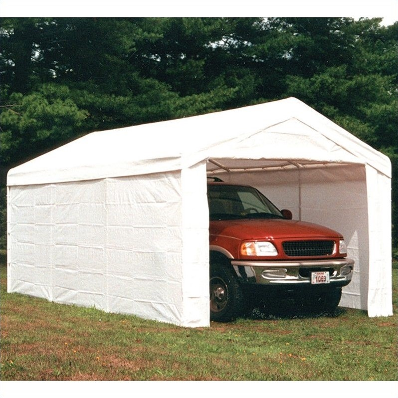 Shelterlogic Super Max 2-in-1 10' x 20' 4-Rib Canopy with Enclosure Kit