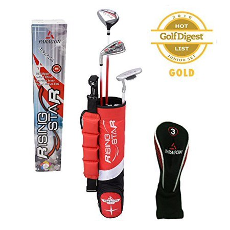 Paragon Rising Star Kids/Toddler Golf Clubs Set Ages 3-5 Red **Left