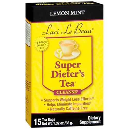 Laci Le Beau Super Dieter's Tea Lemon Mint 15 Each (Pack of 3)