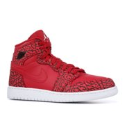 "Air Jordan 1 Retro Hi Premium (GS) ""Unsupreme"" Elephant Red - White"