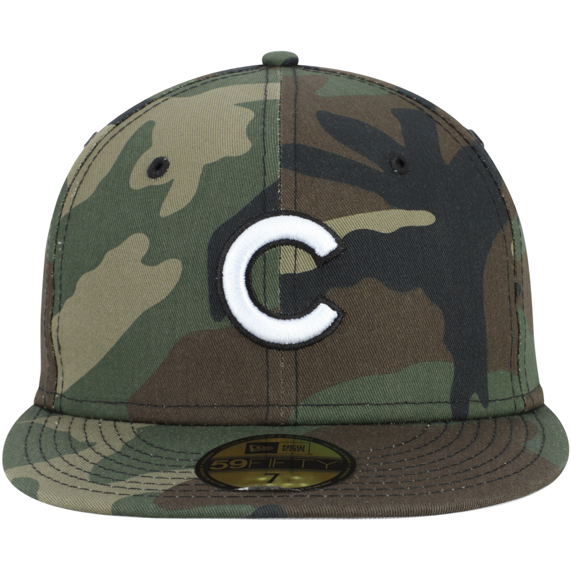 on sale e1068 d746c Chicago Cubs New Era Woodland Camo Basic 59FIFTY Fitted Hat - Camo -  Walmart.com