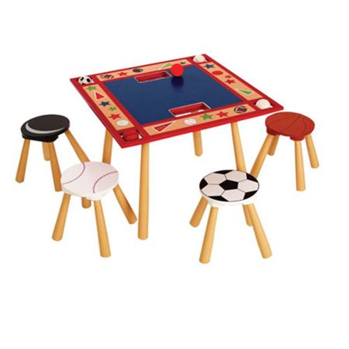 Levels of Discovery LOD20025 All Star Sports Table & 4 Stool Set - 2012 Only