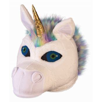 Unicorn Mascot Head Halloween Costume Accessory - Mascot Costume Hire