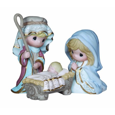 Precious Moments Nativity 131062 Come Let Us Adore Him Holy Family Figurine