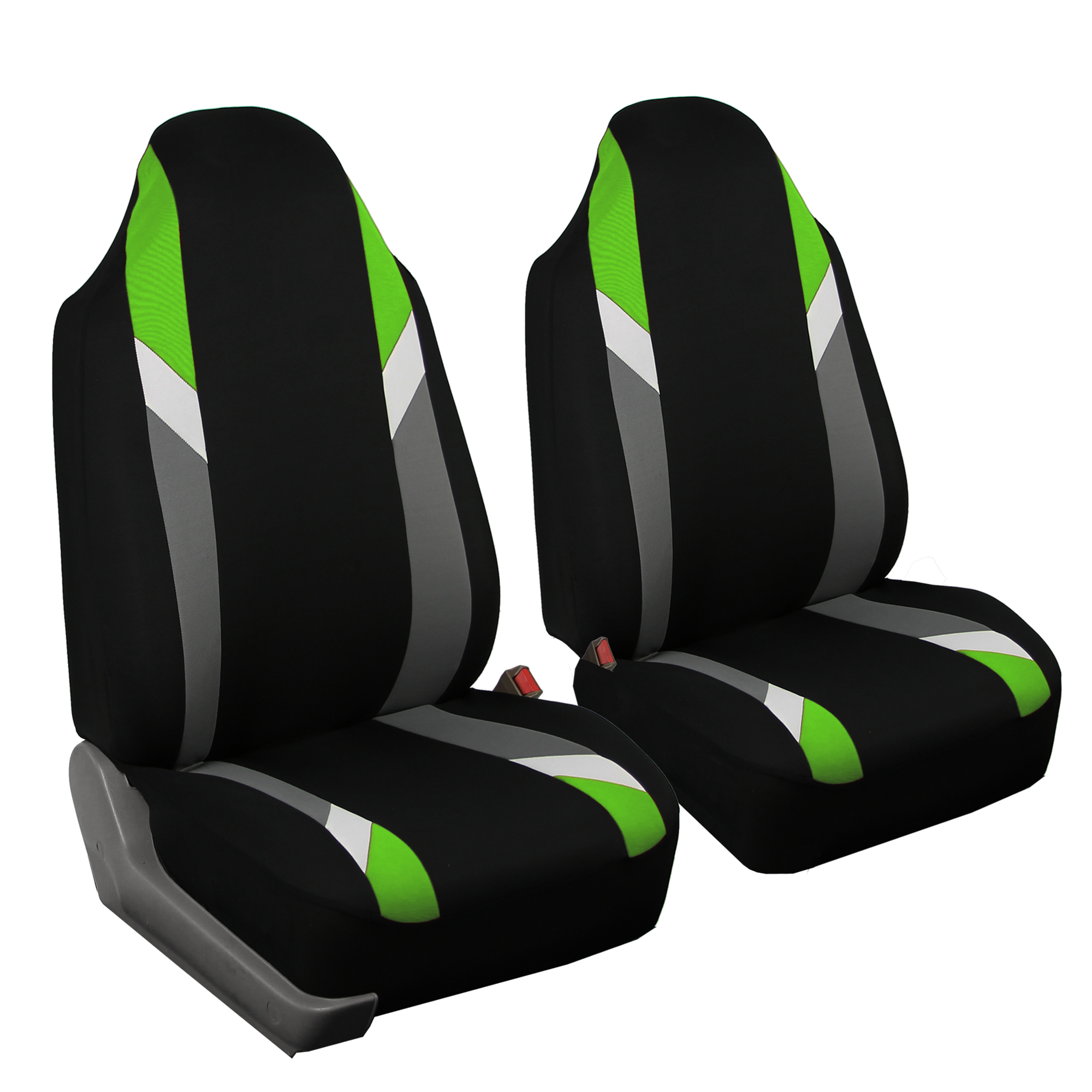 FH GROUP Premium Modernistic Front Set Car Seat Covers, Green
