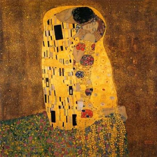 Lady with Fan by Gustav Klimt 12x12 Poster ART PRINT