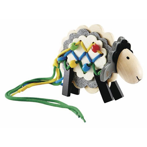 Hape - Early Explorer - String Sheep Wooden Lacing Toy
