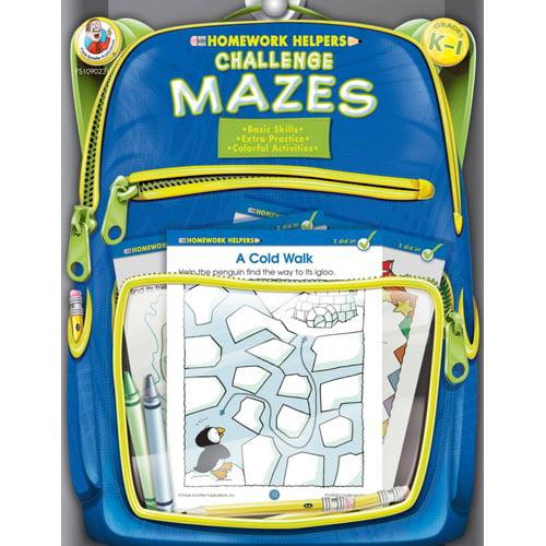 Challenge Mazes, Homework Helpers, Grades K-1
