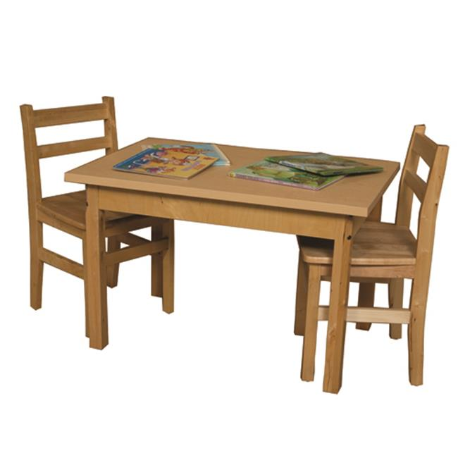 2436HPL18 Rectangle High Pressure Laminate Table With Hardwood Legs- 18 In. - image 1 of 1