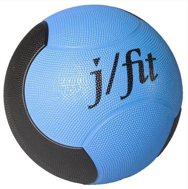 6 lbs. Premium Rubberized Medicine Ball in Blue & Black