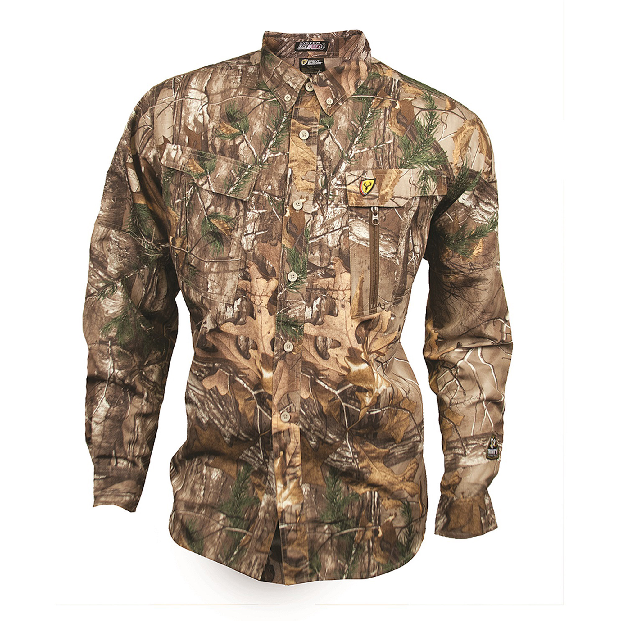 Scent Blocker Trinity Featherlite Shirt, Mossy Oak Break-Up Country