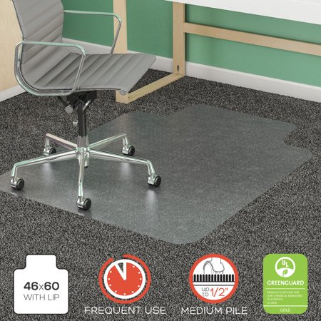 (deflecto SuperMat Frequent Use Chair Mat, Rectangle, 46