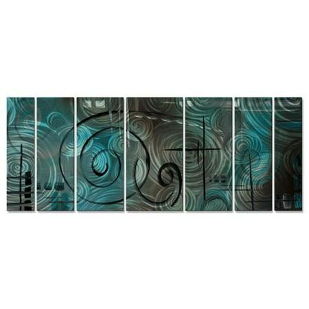 All My Walls Megan Duncanson Aqua Mist Metal Wall Sculpture