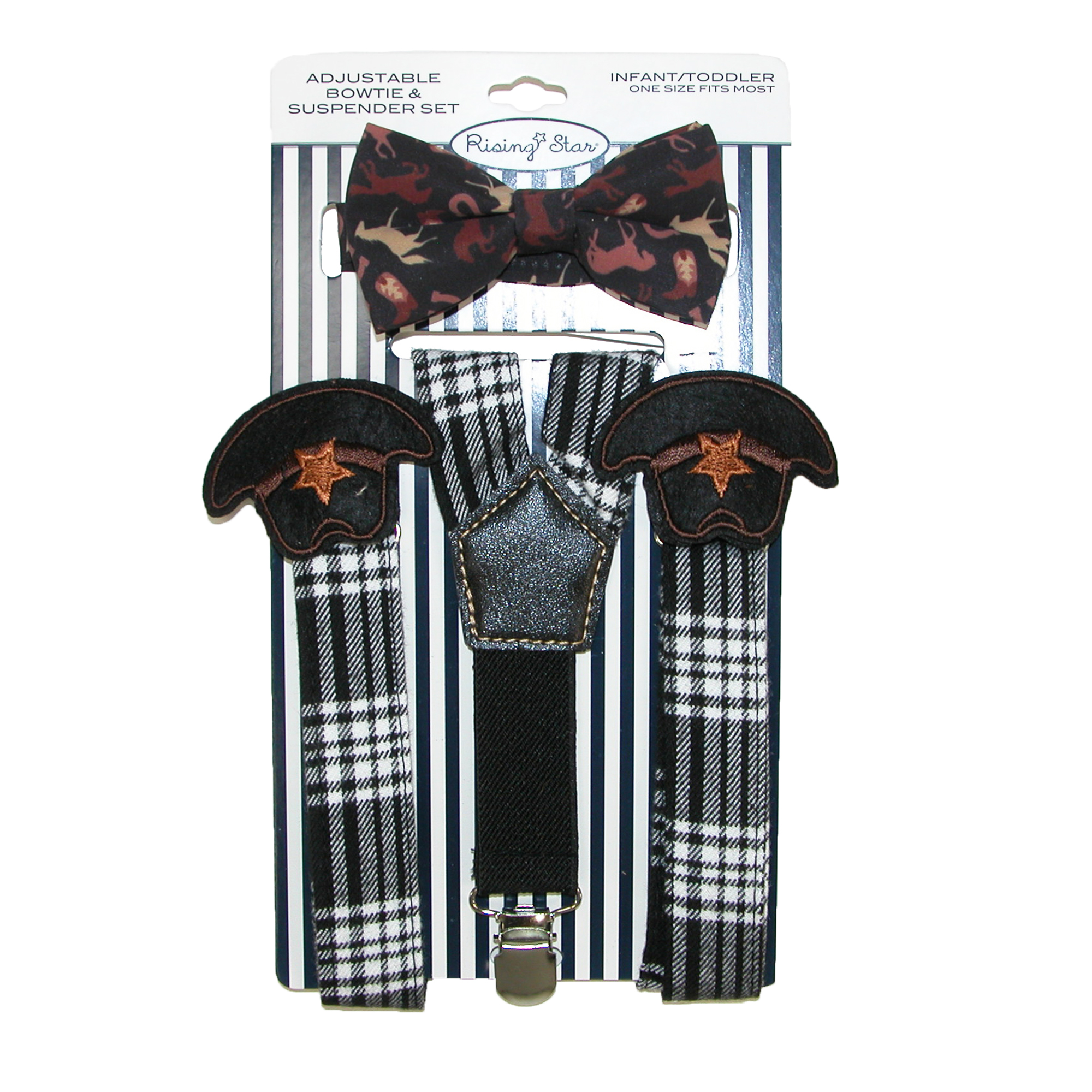 Image of ABG Accessories Infants' Cowboy Hat Suspender and Bow Tie Set